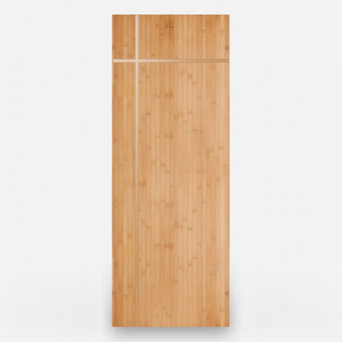 Tugun Natural Horizontal Grain Bamboo Door with Brass Inlays