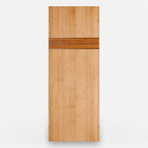 Yanmba Natural Horizontal Grain Bamboo Door with Java Band