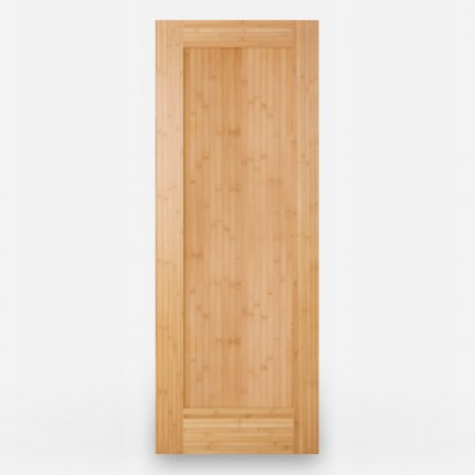 Green Leaf Bamboo Door - Stile and Rail 1 Panel Horizontal Grain Amber