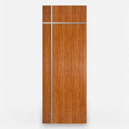 Tugun Amber Woven Bamboo Door with Stainless Inlays