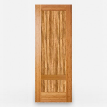 Green Leaf Bamboo Door - Stile and Rail 2 Panel Vertical Grain Amber & Java