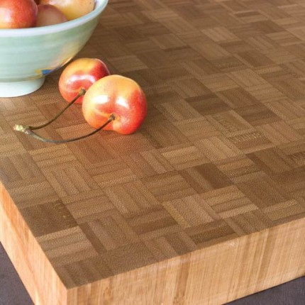Bamboo Butcher Block Parquet Worktop